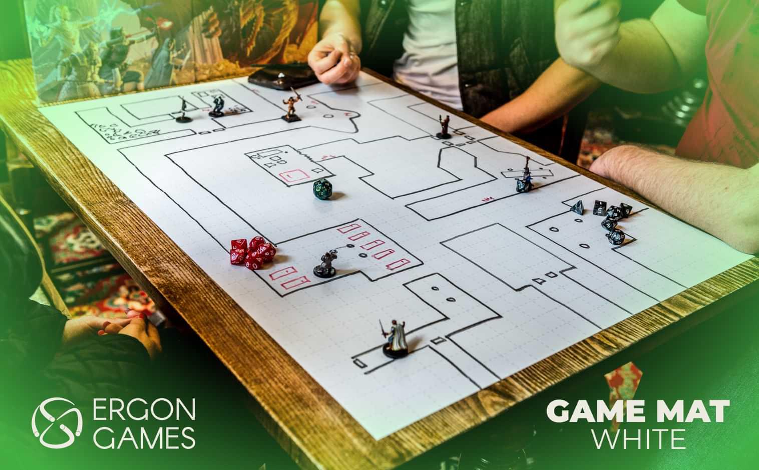 Ergon Games White Battlemat